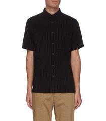 irving' vertical stripe short sleeve shirt