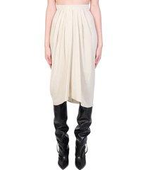isabel marant vinkao skirt in beige viscose