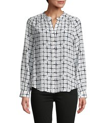 bardot silk blouse