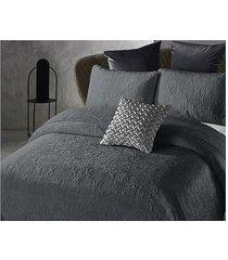 koc pled narzuta na łóżko 180x250 cm szara