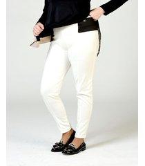 pantalón blanco lecol talles reales valeria plus size