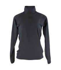 blusa térmica feminina segunda pele meio zíper thermo premium original slim fit