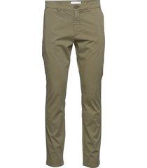 chuck regular chino poplin pant - g chino broek groen knowledge cotton apparel