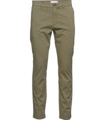 chuck regular chino poplin pant - g chino broek groen knowledge cotton apparel