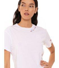 mc2 saint barth cotton t-shirt with love capri embroidery