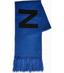 mens nicce blue logo scarf