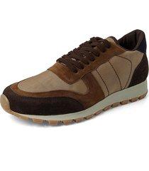 canvas blauman sneakers // miel  café
