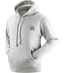 alan walker faded hoodie unisex sweater grey cotton pullover fleece sweatshirt