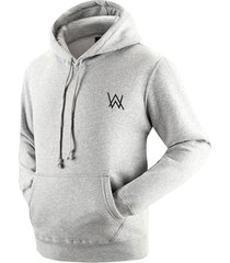 alan walker faded hoodie unisex sweater grey cotton pullover fleece sweatshirt