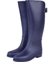 botas de lluvia impermeable golden bowtie bottplie - azul navy