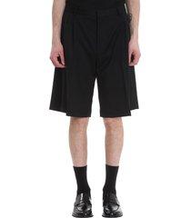 cmmn swdn shorts in black wool