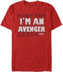 marvel men's avengers infinity war i'm an avenger symbols short sleeve t-shirt