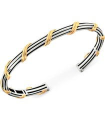 peter thomas roth two-tone cuff bracelet in sterling silver & gold-plate
