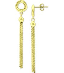 giani bernini tassel drop earrings, created for macy's