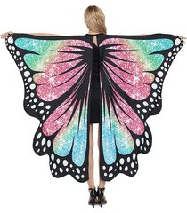 halloween party cosplay butterfly wing pattern decorative cape