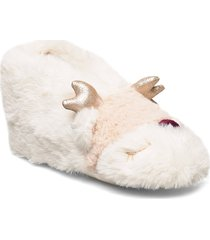 indoor boot furry face slippers tofflor rosa lindex