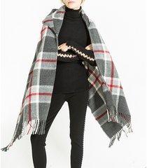 sciarpa calda invernale in lana e cashmere sciarpa scozzese