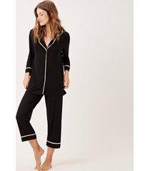 pijama joge longo preto - preto - feminino - dafiti