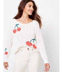 loft lou & grey cherry sweater