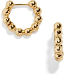 women's baublebar pisa huggie hoop earrings