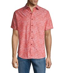 bell gardens printed classic-fit casual button-down shirt