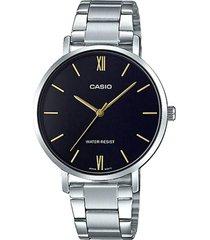 reloj formal plateado casio