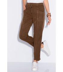 enkellange broek in jogg-pant-stijl model cornelia van peter hahn bruin