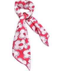 lenço smm acessorios flores rosa pink