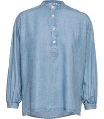 key shirt blouse lange mouwen blauw hope