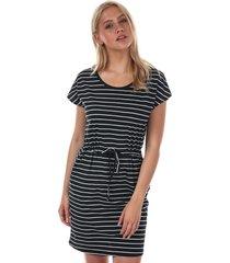 vero moda april stripe dress size 6 in black