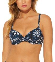 bleu by rod beattie printed underwire bikini top women's swimsuit