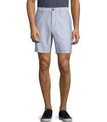 original penguin men's dobby oxford cotton shorts - vintage indigo - size 32
