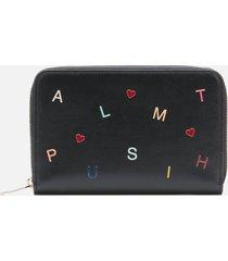 paul smith women's letters purse medium zip - black