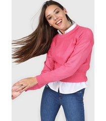 sweater rosa moni tricot liso
