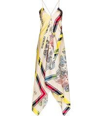 golden goose sleeveless blanket bandana dress - white