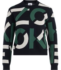 kenzo sport sweater with all over logo