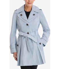 london fog hooded belted trench coat