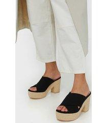 nly shoes summer platform mule high heel