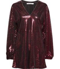 flowy sequin dress kort klänning röd ivyrevel