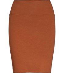 penny skirt knälång kjol brun kaffe
