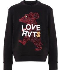 blackbarrett graphic print cotton sweatshirt