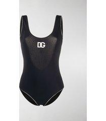 dolce & gabbana retro logo swimsuit