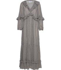 long sheer ruffled dress maxiklänning festklänning grå designers, remix