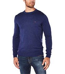 sweater azul tommy hilfiger classic cotton cneck