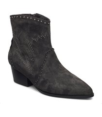 boot 5 cm shoes boots ankle boots ankle boot - heel grå sofie schnoor