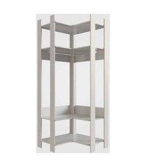 combo 004 closet aberto off white completa móveis