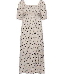 doragz short dress knälång klänning vit gestuz