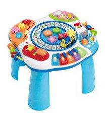 super mesa de atividades winfun 0801-55 piano e trenzinho colorido
