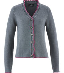 cardigan bavarese (grigio) - bpc bonprix collection