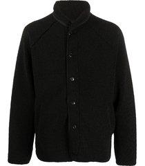 ymc faux shearling beach jacket - black